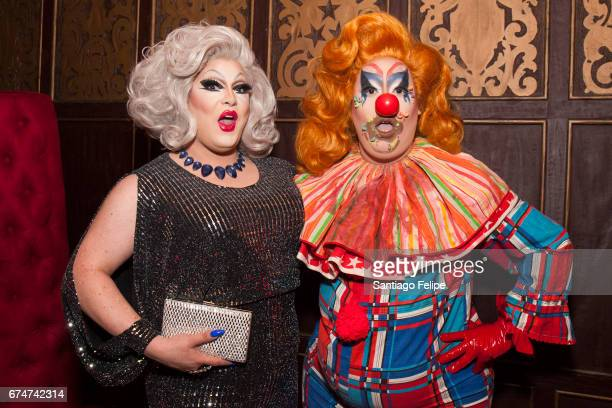 Pissi Myles and Sherry Pie attend VH1 Presents RuPaul's DragCon Party at Belasco Theatre on April 28 2017 in Los Angeles California