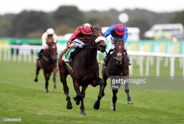 Pista ridden by jockey William Buick wins the bet365 Park Hill Fillies' Stakes during day two of the William Hill St Leger Festival at Doncaster...