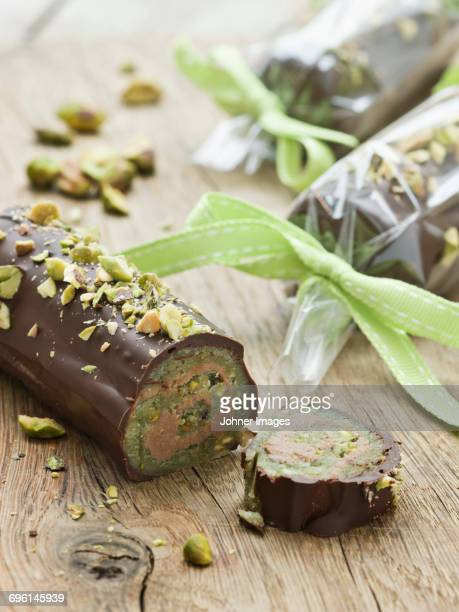 Pistachio and chocolate sweets