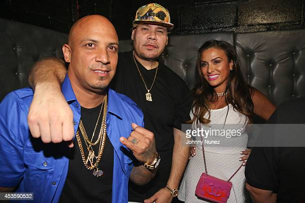 Pistol Pete Fat Joe and Lorena Cartagena attend Pistol Pete's Birthday Celebration at Litt on August 13 2014 in the Queens borough of New York City