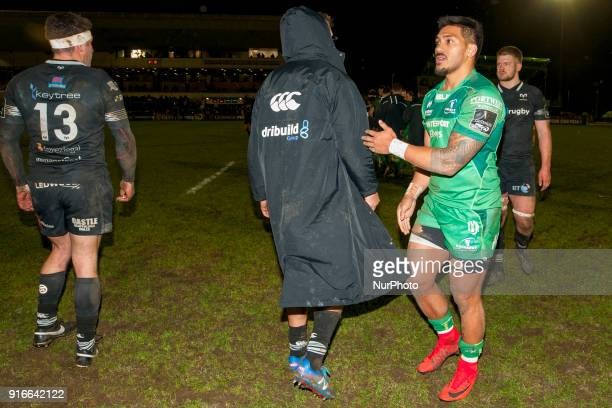 Pita Akhi of Connacht pictured during the Guinness PRO14 rugby match between Connacht Rugby and Ospreys at the Sportsground in Galway Ireland on...