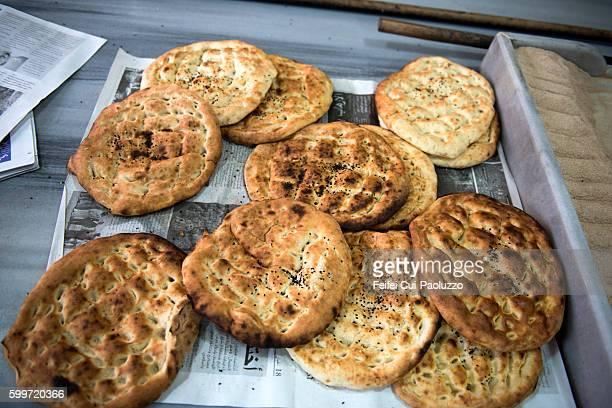 Pita bread at Bakery of Sinop of Black sea region in Turkey