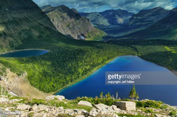 Pitamakan Lake and Lake of the Seven Winds, Two Medicine District, Glacier National Park, Montana, USA.