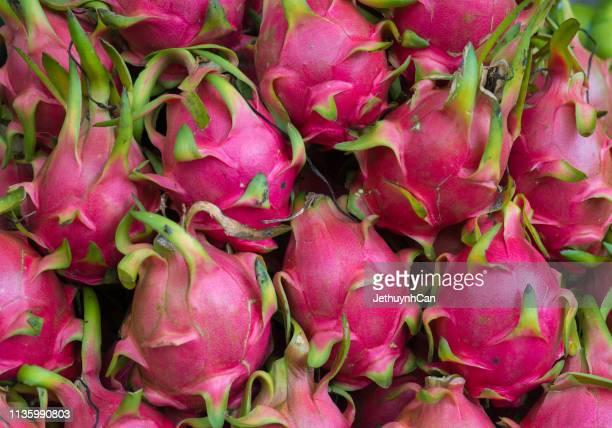 pitaya - dragon fruit - dragon fruit stock pictures, royalty-free photos & images