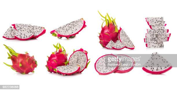 pitayas against white background - dragon fruit stock pictures, royalty-free photos & images