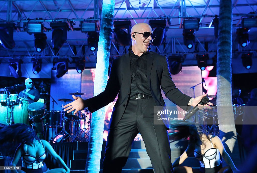 Pitbull attends Destination Fashion 2016 to benefit The Buoniconti Fund to Cure Paralysis, the fundraising arm of The Miami Project to Cure Paralysis at Bal Harbour Shops on March 5, 2016 in Miami, Florida.