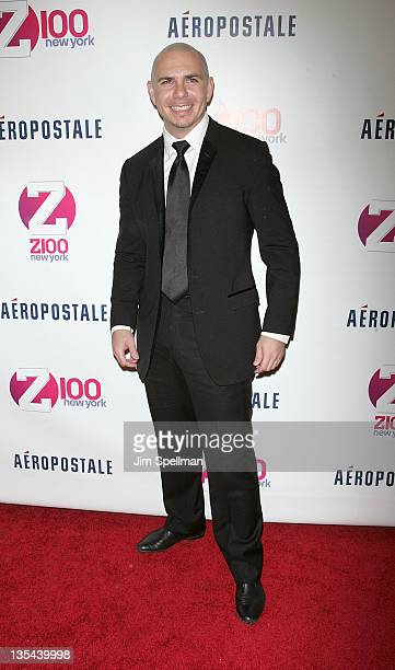 Pitbull attends Z100's Jingle Ball 2011 presented by Aeropostale at Madison Square Garden on December 9 2011 in New York City