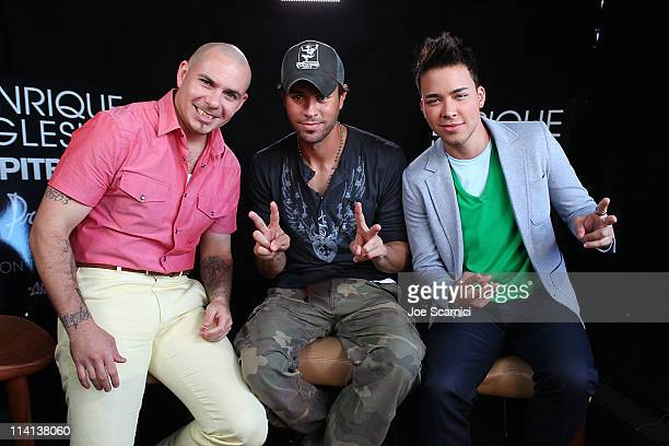 Pitbull Enrique Iglesias and Prince Royce attend Concerts West AEG Live announcement for Enrique Inglesias Pitbull and Prince Royce fall tour at...