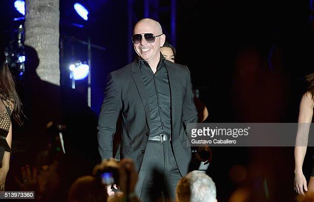 Pitbull performs at the Destination Fashion 2016 to benefit The Buoniconti Fund to Cure Paralysis, the fundraising arm of The Miami Project to Cure...