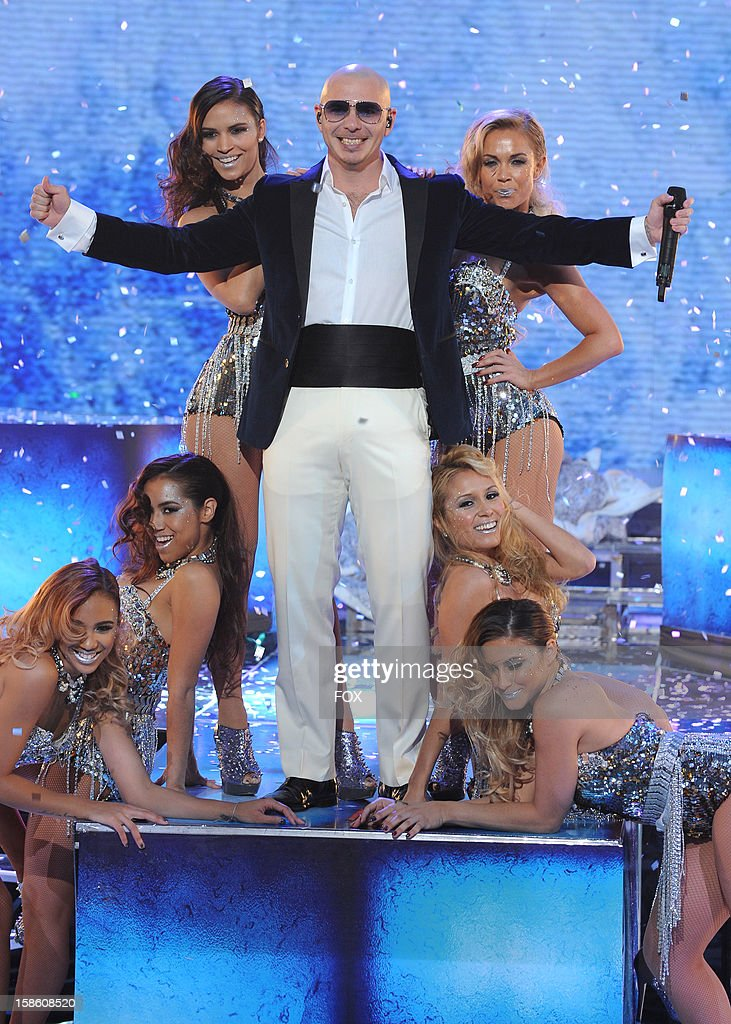Pitbull performs during FOX's 'The X Factor' Season 2 Finale (8:00-9:00PM ET/PT) on FOX on December 20, 2012 in Hollywood, California.