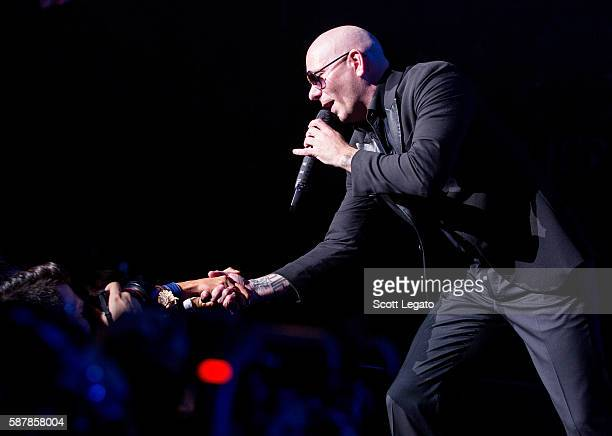 Pitbull Performs During The Bad Man Tour 2016 At DTE Energy Music Theater On August 9