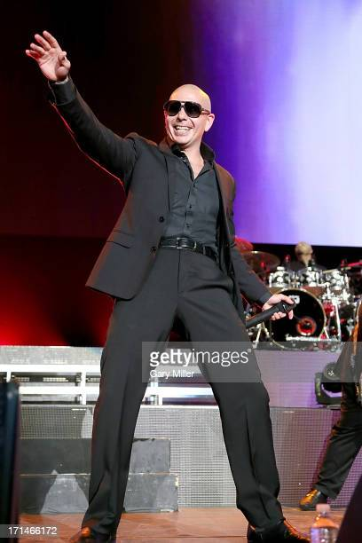 Pitbull performs in concert at the AT&T Center on June 24, 2013 in San Antonio, Texas.