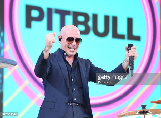 """Pitbull performs live on """"Good Morning America,"""" as part of the GMA Summer Concert series on Friday, June 15, 2018 airing on the Walt Disney..."""