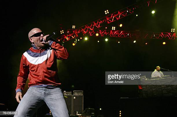 Pitbull performs on stage during the Roc Tha Block concert at the Sydney Entertainment Centre on August 31 in Sydney, Australia.