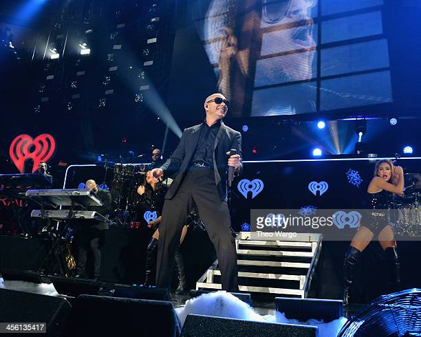 Pitbull performs onstage during Z100's Jingle Ball 2013 presented by Aeropostale at Madison Square Garden on December 13 2013 in New York City