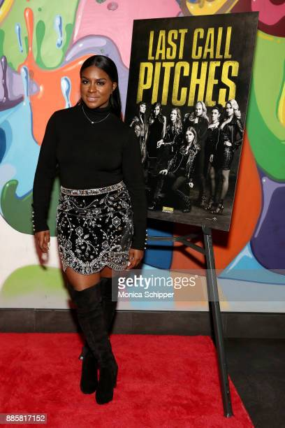 Pitch Perfect 3 actress Ester Dean attends the GrammyU screening and QA moderated by Angie Martinez on December 4 2017 in New York City