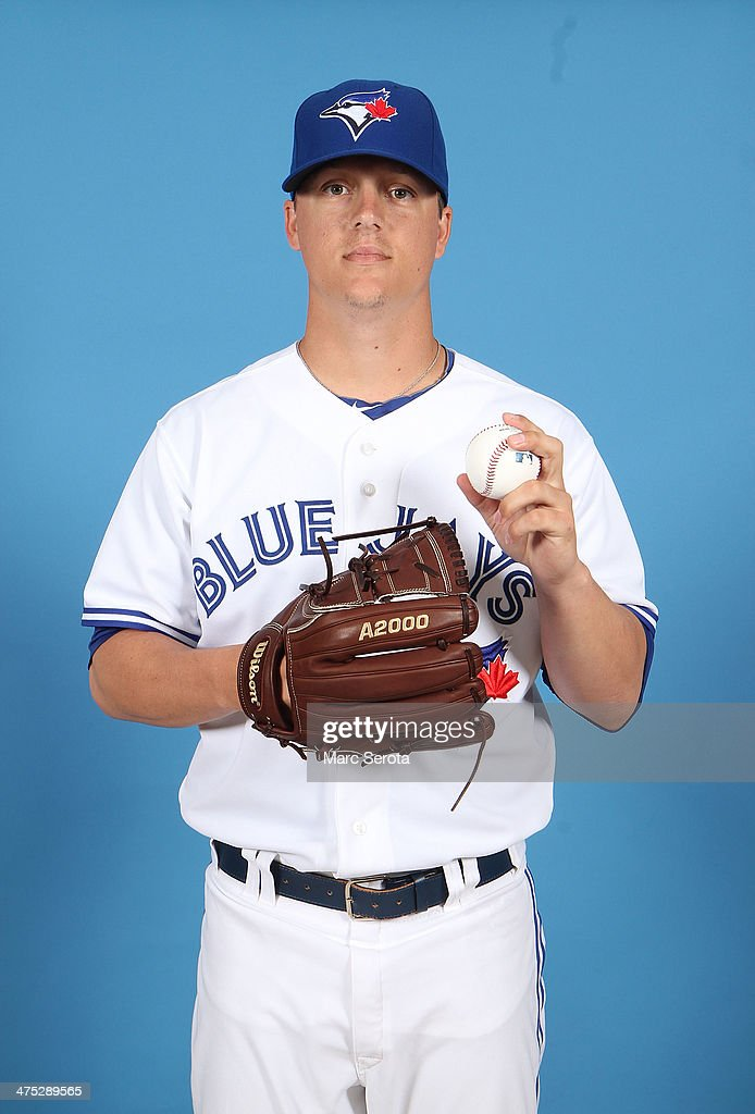 Pitcher Aaron Loup #62 of the Toronto Blue Jays poses on Photo Day February 25, 2014 in Dunedin, Florida.