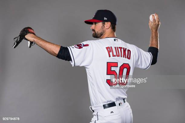 Pitcher Adam Plutko poses for a photo during the Cleveland Indians photo day on Wednesday Feb 21 2018 at Goodyear Ballpark in Goodyear Ariz