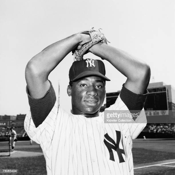 Pitcher Al Downing, of the New York Yankees, poses for a portrait prior to a game in 1961 at Yankee Stadium in New York, New York.