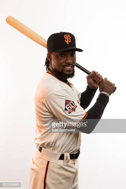 Pitcher Alan Hanson poses for a photo during the San Francisco Giants photo day on Tuesday Feb 20 2018 at Scottsdale Stadium in Scottsdale Ariz