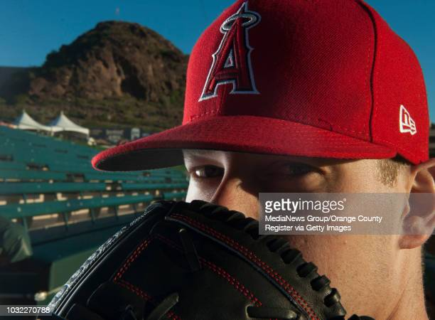 Pitcher Andrew Bailey poses during the Angels' Photo Day at Spring Training in Tempe AZ on Tuesday February 21 2017
