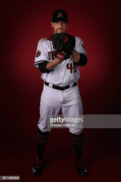Pitcher Andrew Chafin of the Arizona Diamondbacks poses for a portrait during photo day at Salt River Fields at Talking Stick on February 20 2018 in...