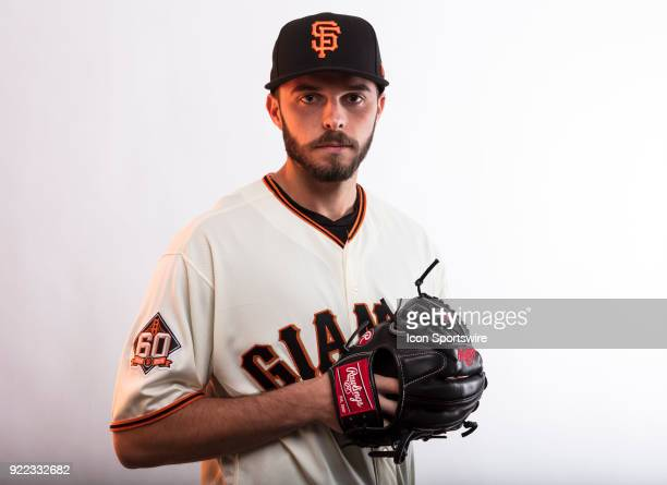 Pitcher Andrew Suarez poses for a photo during the San Francisco Giants photo day on Tuesday Feb 20 2018 at Scottsdale Stadium in Scottsdale Ariz