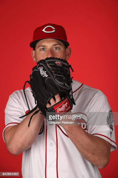 Pitcher Anthony DeSclafani of the Cincinnati Reds poses for a portait during a MLB photo day at Goodyear Ballpark on February 18 2017 in Goodyear...