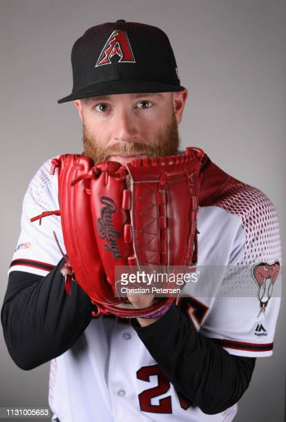 Pitcher Archie Bradley of the Arizona Diamondbacks poses for a portrait during photo day at Salt River Fields at Talking Stick on February 20 2019 in...