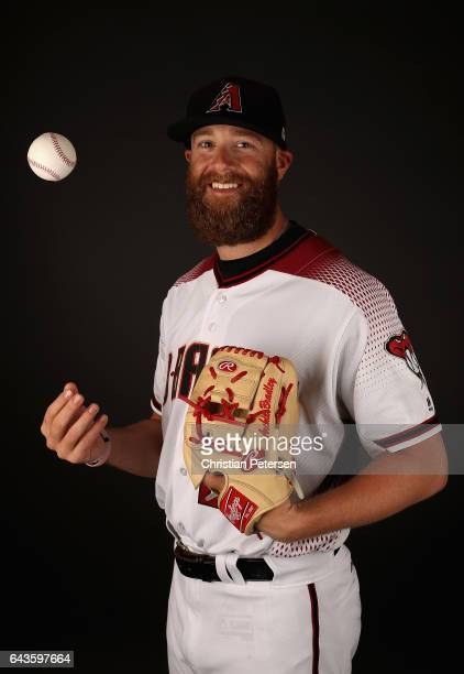 Pitcher Archie Bradley of the Arizona Diamondbacks poses for a portrait during photo day at Salt River Fields at Talking Stick on February 21 2017 in...