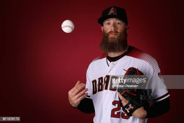 Pitcher Archie Bradley of the Arizona Diamondbacks poses for a portrait during photo day at Salt River Fields at Talking Stick on February 20 2018 in...