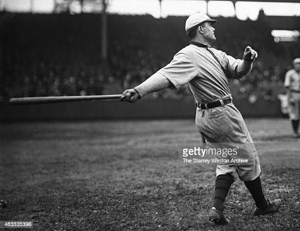 Pitcher Babe Adams of the Pittsburgh Pirates swings the bat circa 19071926 in Pittsburgh Pennsylvania