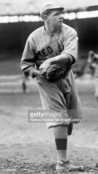 Pitcher Babe Ruth of the Boston Red Sox practices his delivery circa 1916 Babe Ruth played for the Boston Red Sox from 19141919