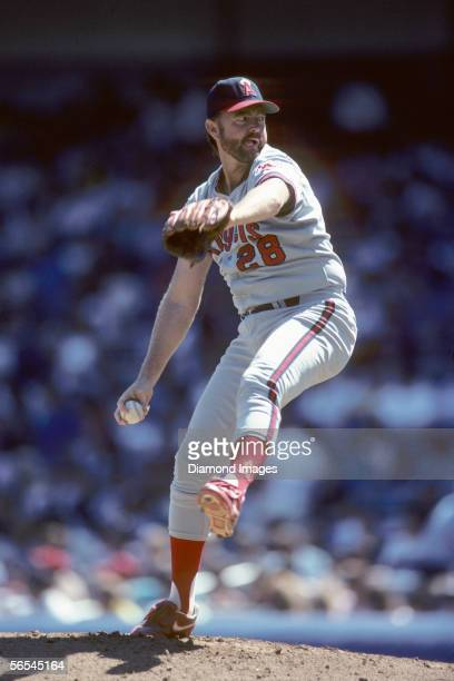 Pitcher Bert Blyleven of the California Angels throws a pitch during a game on September 3 1989 against the New York Yankees at Yankee Stadium in New...