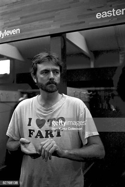 Pitcher Bert Blyleven of the Cleveland Indians in the clubhouse following the final game of the season on September 30 1984 against the Minnesota...