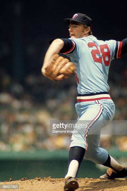 Pitcher Bert Blyleven, of the Minnesota Twins, throws a pitch during a game on June 16, 1973 against the Detroit Tigers at Tiger Stadium in Detroit,...