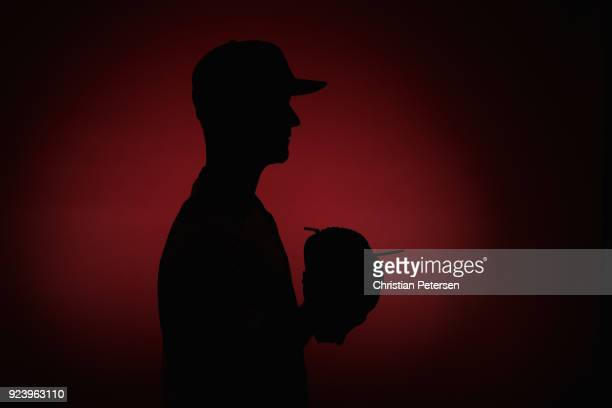 Pitcher Brad Boxberger of the Arizona Diamondbacks poses for a portrait during photo day at Salt River Fields at Talking Stick on February 20 2018 in...