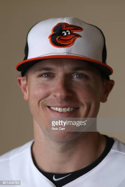 Pitcher Brad Brach of the Baltimore Orioles poses for a photo during photo days at Ed Smith Stadium on February 20 2018 in Sarasota FL