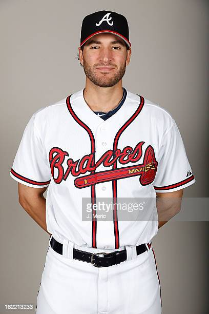 Pitcher Brandon Beachy of the Atlanta Braves poses for a photo during photo day at Champion Stadium at the ESPN Wide World of Sports Complex at Walt...
