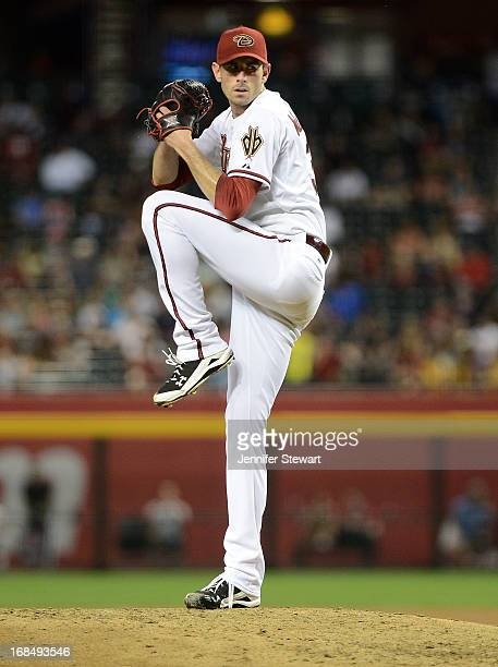 Pitcher Brandon McCarthy of the Arizona Diamondbacks pitches against the Colorado Rockies in the sixth inning at Chase Field on April 26 2013 in...