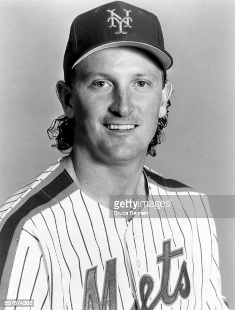 Pitcher Bret Saberhagen of the New York Mets poses for a portrait during MLB Spring Training circa March 1993 in Port St Lucie Florida