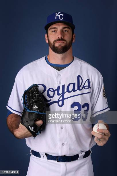 Pitcher Brian Flynn of the Kansas City Royals poses for a portrait during photo day at Surprise Stadium on February 22 2018 in Surprise Arizona