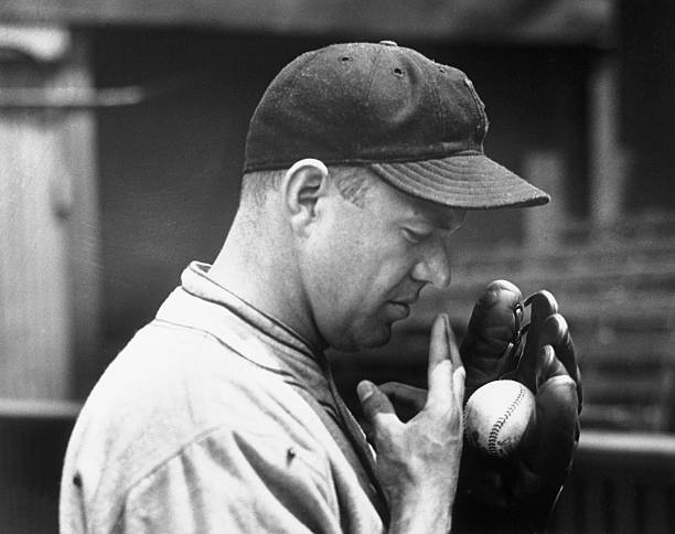 Pitcher Burleigh Grimes Demonstrating Spitball