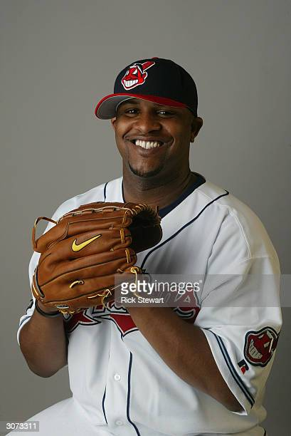 Pitcher CC Sabathia of the Cleveland Indians poses during Media Day on March 2 2004 at Chain O Lakes Park in Winter Haven Florida