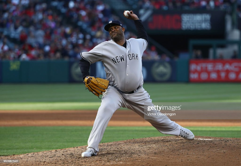 c1a94ce2d0b88 Pitcher CC Sabathia of the New York Yankees pitches in the fifth ...