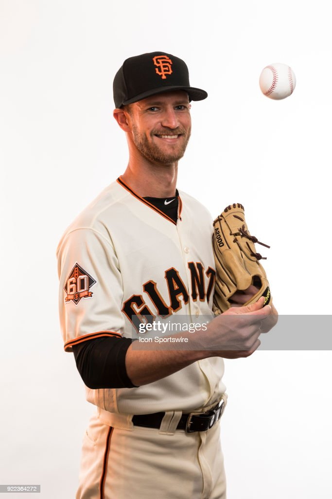Pitcher Chase Johnson (86) poses for a photo during the San Francisco Giants photo day on Tuesday, Feb. 20, 2018 at Scottsdale Stadium in Scottsdale, Ariz.