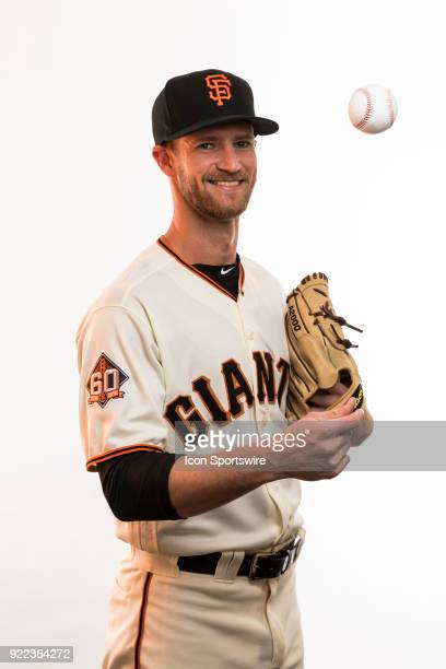 Pitcher Chase Johnson poses for a photo during the San Francisco Giants photo day on Tuesday Feb 20 2018 at Scottsdale Stadium in Scottsdale Ariz