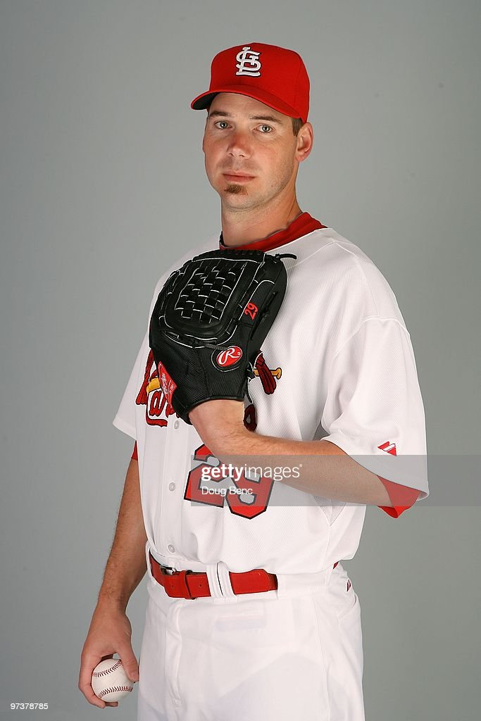 Pitcher Chris Carpenter #29 of the St. Louis Cardinals during photo day at Roger Dean Stadium on March 1, 2010 in Jupiter, Florida.