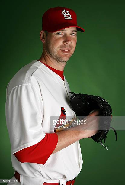 Pitcher Chris Carpenter of the St Louis Cardinals poses during photo day at Roger Dean Stadium on February 20 2009 in Jupiter Florida