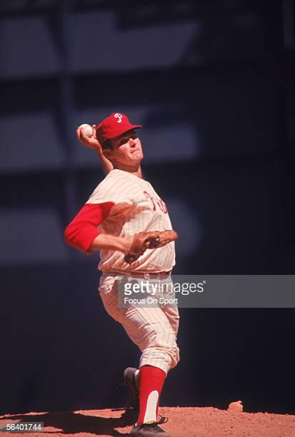 Pitcher Chris Short of the Philadelphia Phillies pitches during a game Chris Short was a 17 game winner in the 1964 season